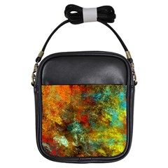 Mixed Abstract Girls Sling Bags