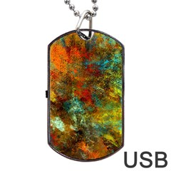 Mixed Abstract Dog Tag Usb Flash (one Side)