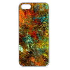 Mixed Abstract Apple Seamless iPhone 5 Case (Clear)