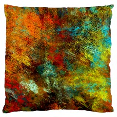 Mixed Abstract Large Flano Cushion Case (Two Sides)