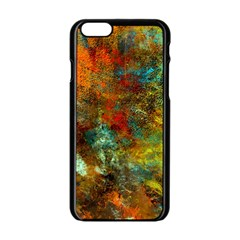 Mixed Abstract Apple Iphone 6/6s Black Enamel Case