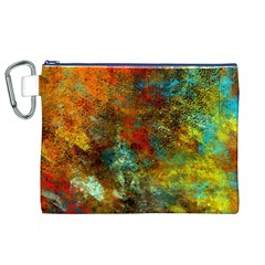 Mixed Abstract Canvas Cosmetic Bag (xl)