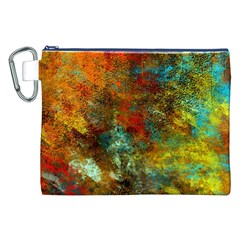 Mixed Abstract Canvas Cosmetic Bag (xxl)