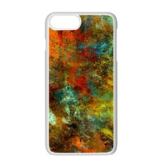 Mixed Abstract Apple Iphone 7 Plus White Seamless Case