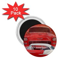 Classic Car Chevy Bel Air Dodge Red White Vintage Photography 1 75  Magnets (10 Pack)