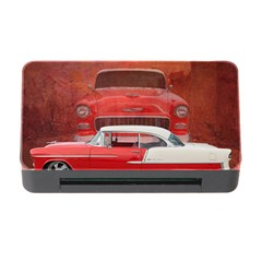Classic Car Chevy Bel Air Dodge Red White Vintage Photography Memory Card Reader With Cf