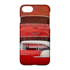 Classic Car Chevy Bel Air Dodge Red White Vintage Photography Apple Iphone 7 Hardshell Case
