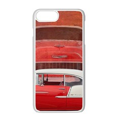 Classic Car Chevy Bel Air Dodge Red White Vintage Photography Apple Iphone 7 Plus White Seamless Case