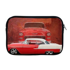 Classic Car Chevy Bel Air Dodge Red White Vintage Photography Apple Macbook Pro 17  Zipper Case