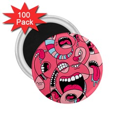 Big Mouth Worm 2 25  Magnets (100 Pack)