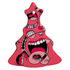Big Mouth Worm Ornament (christmas Tree)