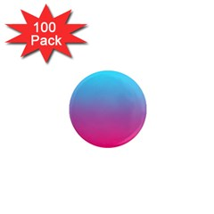Blue Pink Purple 1  Mini Magnets (100 Pack)