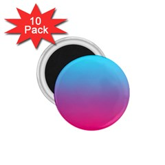 Blue Pink Purple 1 75  Magnets (10 Pack)