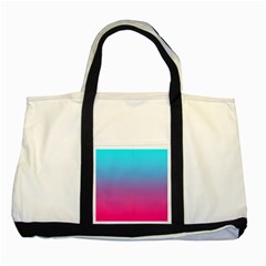 Blue Pink Purple Two Tone Tote Bag