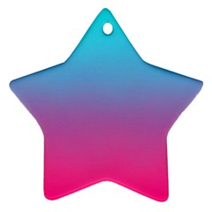 Blue Pink Purple Star Ornament (two Sides)
