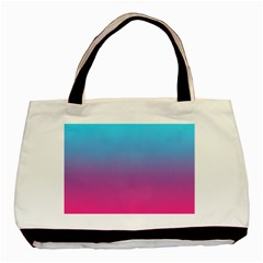 Blue Pink Purple Basic Tote Bag (two Sides)