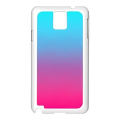 Blue Pink Purple Samsung Galaxy Note 3 N9005 Case (white)