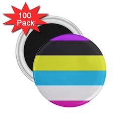 Bigender Flag Copy 2 25  Magnets (100 Pack)
