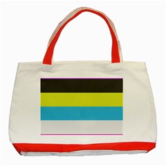 Bigender Flag Copy Classic Tote Bag (red)