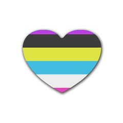 Bigender Flag Copy Heart Coaster (4 Pack)