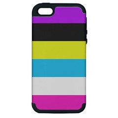Bigender Flag Copy Apple Iphone 5 Hardshell Case (pc+silicone)