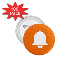 Bell Orange Copy 1 75  Buttons (100 Pack)