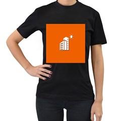 Building Orange Sun Copy Women s T Shirt (black)