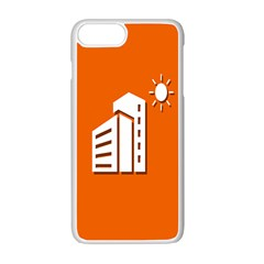 Building Orange Sun Copy Apple Iphone 7 Plus White Seamless Case