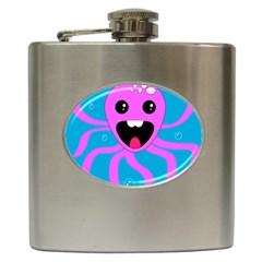 Bubble Octopus Copy Hip Flask (6 Oz)