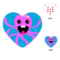 Bubble Octopus Copy Playing Cards (heart)