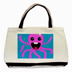 Bubble Octopus Copy Basic Tote Bag (two Sides)