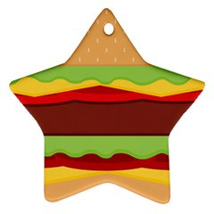 Cake Cute Burger Copy Star Ornament (two Sides)