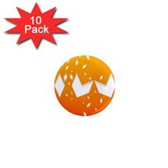Cute Orange Copy 1  Mini Magnet (10 Pack)