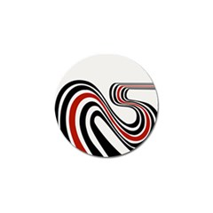 Curving, White Background Copy Golf Ball Marker (4 Pack)