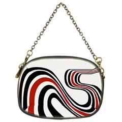 Curving, White Background Copy Chain Purses (two Sides)