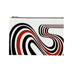 Curving, White Background Copy Cosmetic Bag (large)