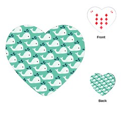 Whale Sea Blue Playing Cards (heart)
