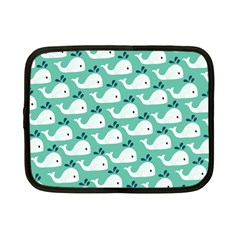 Whale Sea Blue Netbook Case (small)