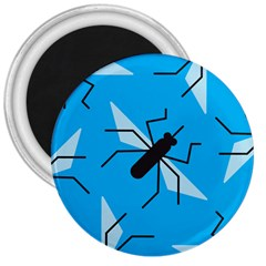 Mosquito Blue Black 3  Magnets