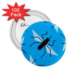 Mosquito Blue Black 2 25  Buttons (100 Pack)
