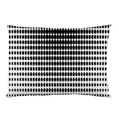 Dark Circles Halftone Black White Copy Pillow Case