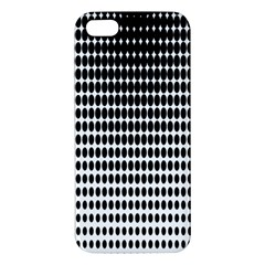 Dark Circles Halftone Black White Copy Apple Iphone 5 Premium Hardshell Case