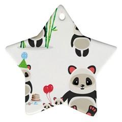 Panda Cute Animals Ornament (star)