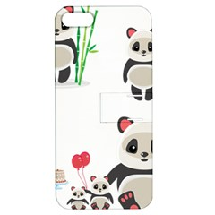 Panda Cute Animals Apple Iphone 5 Hardshell Case With Stand