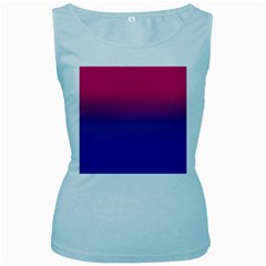 Pink Blue Purple Women s Baby Blue Tank Top