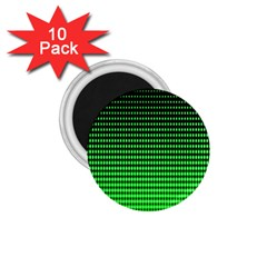 Neon Green And Black Halftone Copy 1 75  Magnets (10 Pack)