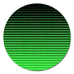 Neon Green And Black Halftone Copy Magnet 5  (round)
