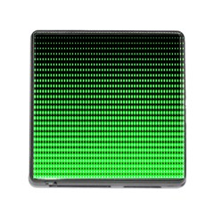 Neon Green And Black Halftone Copy Memory Card Reader (square)