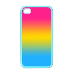 Pink Orange Green Blue Apple Iphone 4 Case (color)