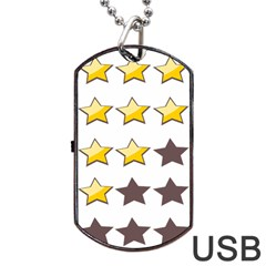 Star Rating Copy Dog Tag Usb Flash (one Side)